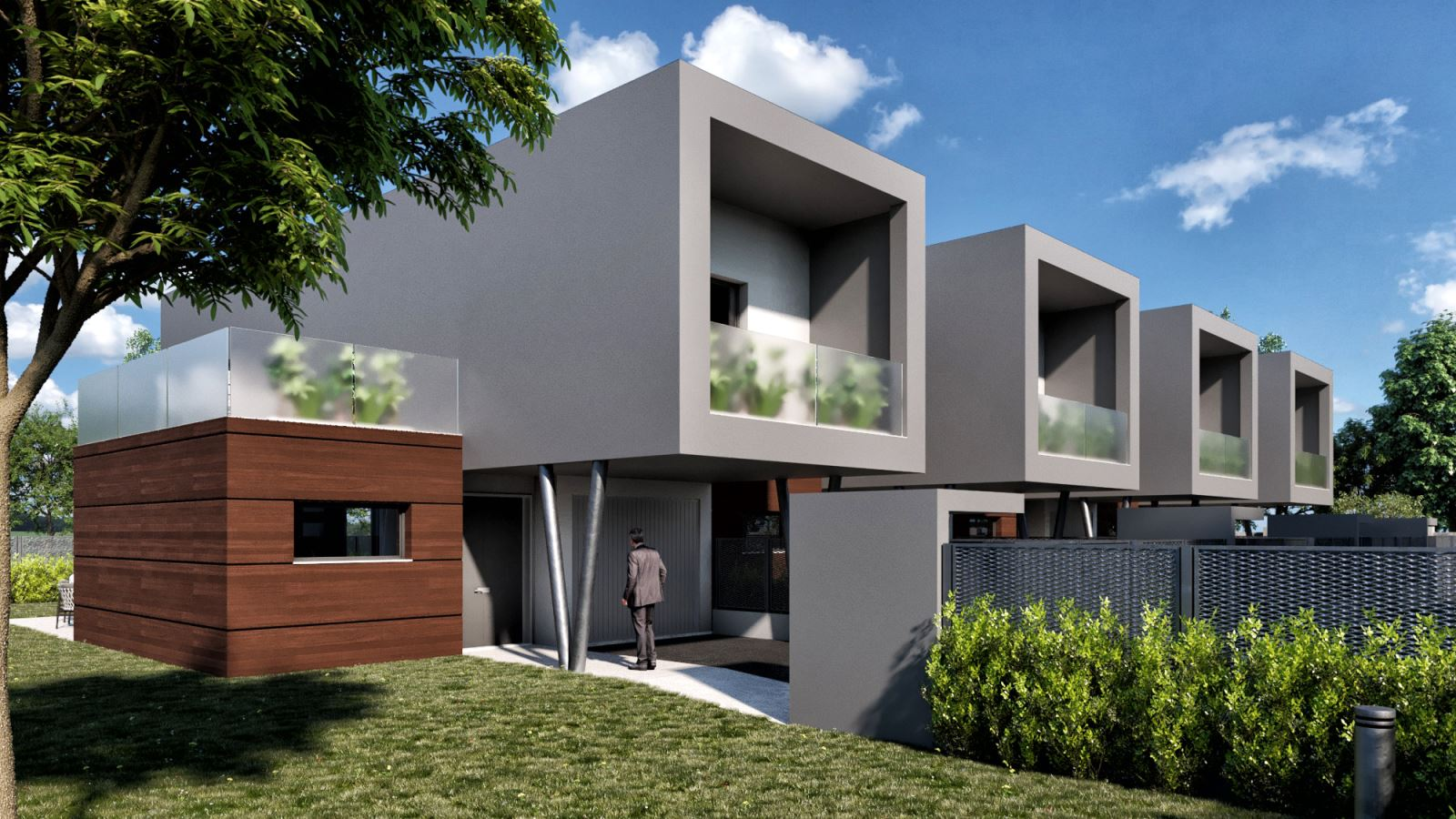 Giardini Per Case Moderne vendita appartamenti - case - garbagnate milanese